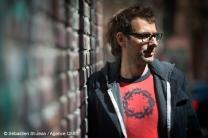 Portrait de DJ Champion (Maxime Morin), à Montréal, Québec, Canada, le mardi 3 mai 2016. SÉBASTIEN ST-JEAN/AGENCE QMI
