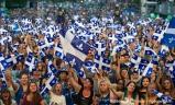 Spectacle de la fête nationale du Québec à Montréal, à la place des festivals, à Montréal, Québec, Canada, le jeudi 23 juin 2016. Sur cette photo: Photo de foule SÉBASTIEN ST-JEAN/AGENCE QMI