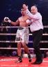 Gala de boxe du Groupe GYM, au Casino de Montréal, à Montréal, Québec, Canada, le jeudi 30 mars 2017. Sur cette photo: Jo Jo Dan (culotte bleue) vs Jesus Gurrola (culotte argent) SÉBASTIEN ST-JEAN/AGENCE QMI