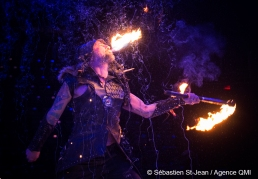 Répétitions du spectacle GALA DE FEU, Les maîtres du feu, à la Tohu, à Montréal, Québec, Canada, le mardi 28 février 2017 SÉBASTIEN ST-JEAN/AGENCE QMI