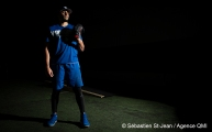 Maintenant membre de l'organisation des Dodgers de Los Angeles, le lanceur Jesen Therrien s'entraîne à Montréal, lui qui se remet d'une opération de type Tommy John. À Montréal, Québec, Canada. Le jeudi 25 octobre 2018. SEBASTIEN ST-JEAN/AGENCE QMI