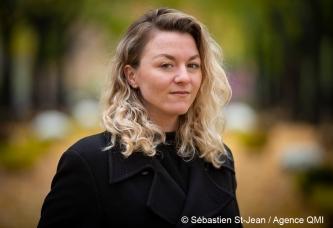 Portrait de Stéphanie Boulay au Parc Lafontaine, à Montréal, Québec, Canada. Le lundi 29 octobre 2018. SEBASTIEN ST-JEAN/AGENCE QMI