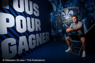 Portrait du joueur de soccer de l'Impact de Montréal Samuel Piette, au Stade Saputo, à Montréal, Québec, Canada, le mardi 20 août 2019. SÉBASTIEN ST-JEAN
