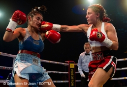Gala de boxe de EOTTM au Casino de Montréal. Le vendredi 17 mai 2019. Sur cette photo: Kim Clavel vs Tamara Elizabeth Demarco PHOTO: SEBASTIEN ST-JEAN