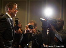 Andrew Scheer, Leader of the Conservative Party of Canada, speaks at the Montreal Council on Foreign Relations (MCFR), at the Marriott Chateau Champlain in Montreal, Quebec, Canada on Tuesday, May 7, 2019. PHOTO: SEBASTIEN ST-JEAN