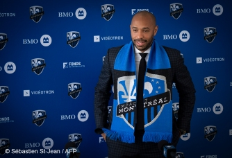 The Montreal Impact invites members of the media to meet new head coach Thierry Henry at a press conference at the Centre Nutrilait, in Montreal, Quebec, Canada, on Monday November 18, 2019. On this picture : Thierry Henry (Head Coach)